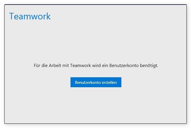 TeamworkBenutzerkonto